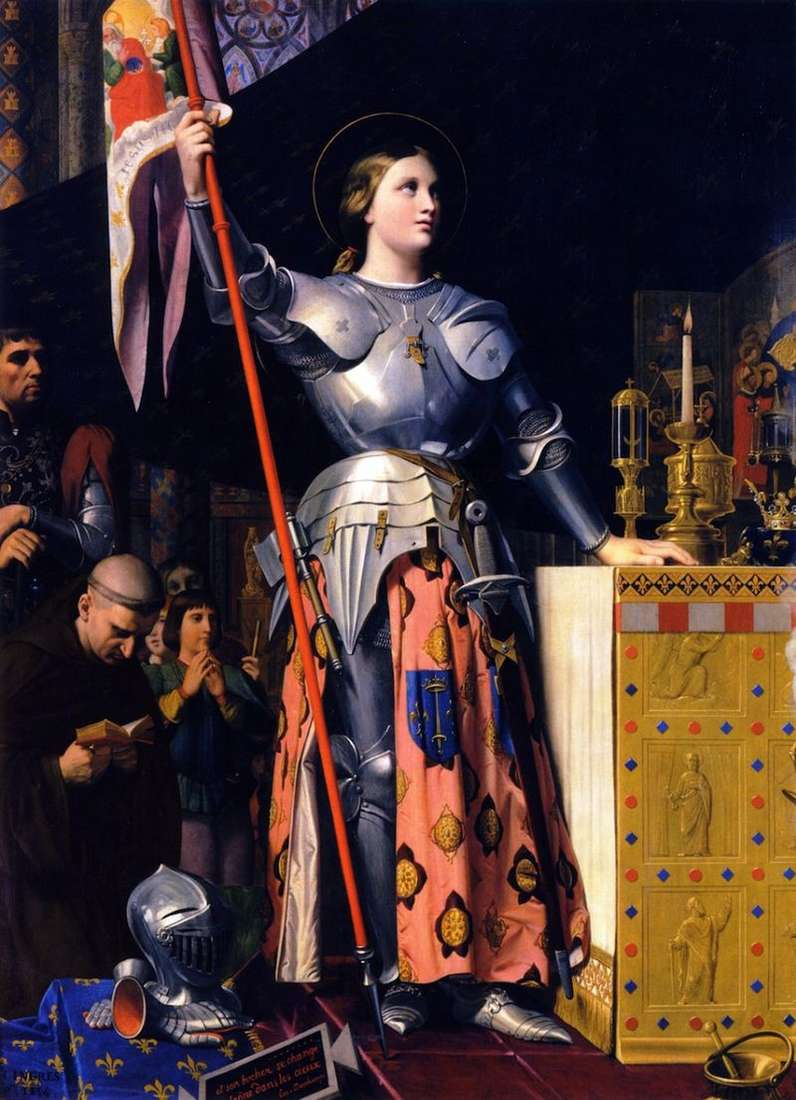 Jeanne dArc podczas koronacji Karola VII   Jean Auguste Dominique Ingres