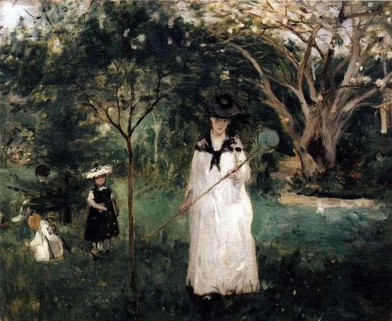 Wędkarstwo motylkowe   Berthe Morisot