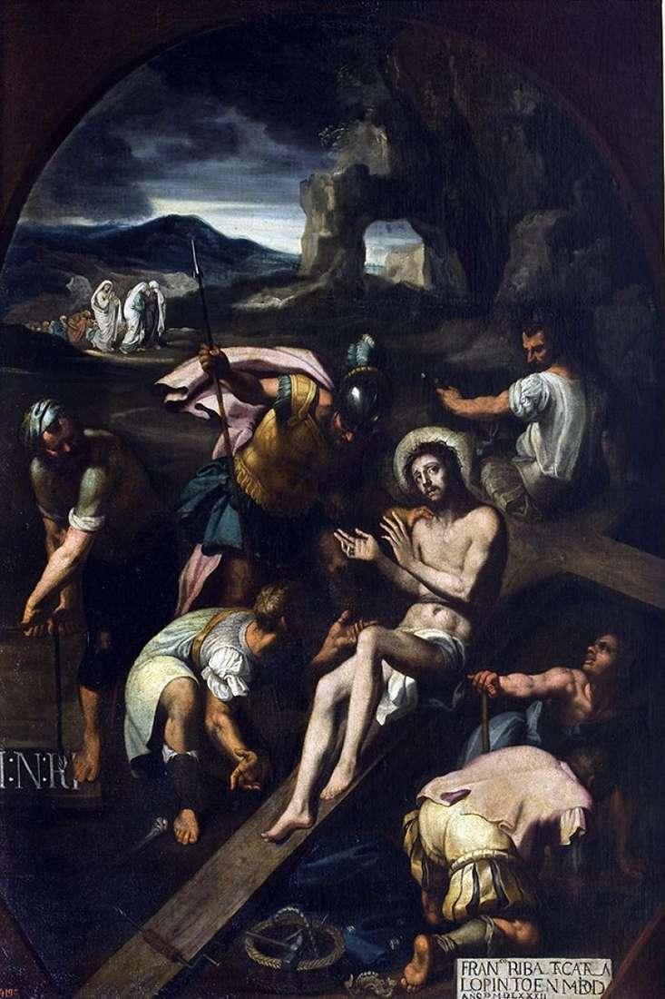Przybijanie do krzyża   Francisco Ribalta