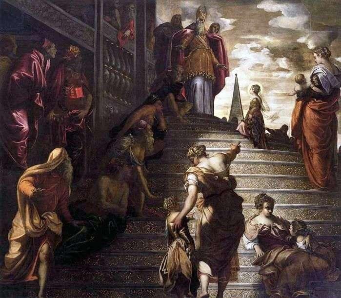 Wprowadzenie Maryi do Świątyni   Jacopo Tintoretto
