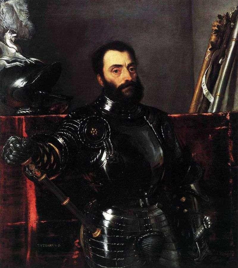 Portret księcia Urby Francesco Maria della Rovere   Titian Vecellio