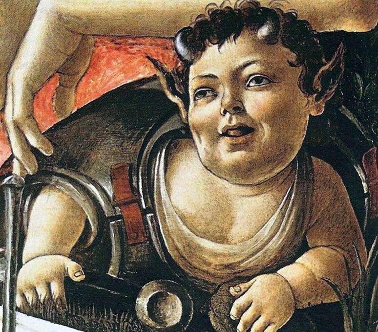 Satyr prankster (fragment)   Sandro Botticelli