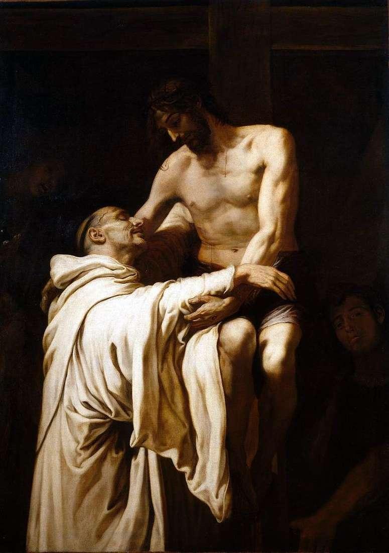Święty Bernard przytulanie Chrystusa   Francisco Ribalta