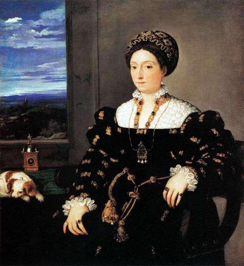 Portret księżnej Eleonory Gonzagi z Urbino   Tycjan Vecellio