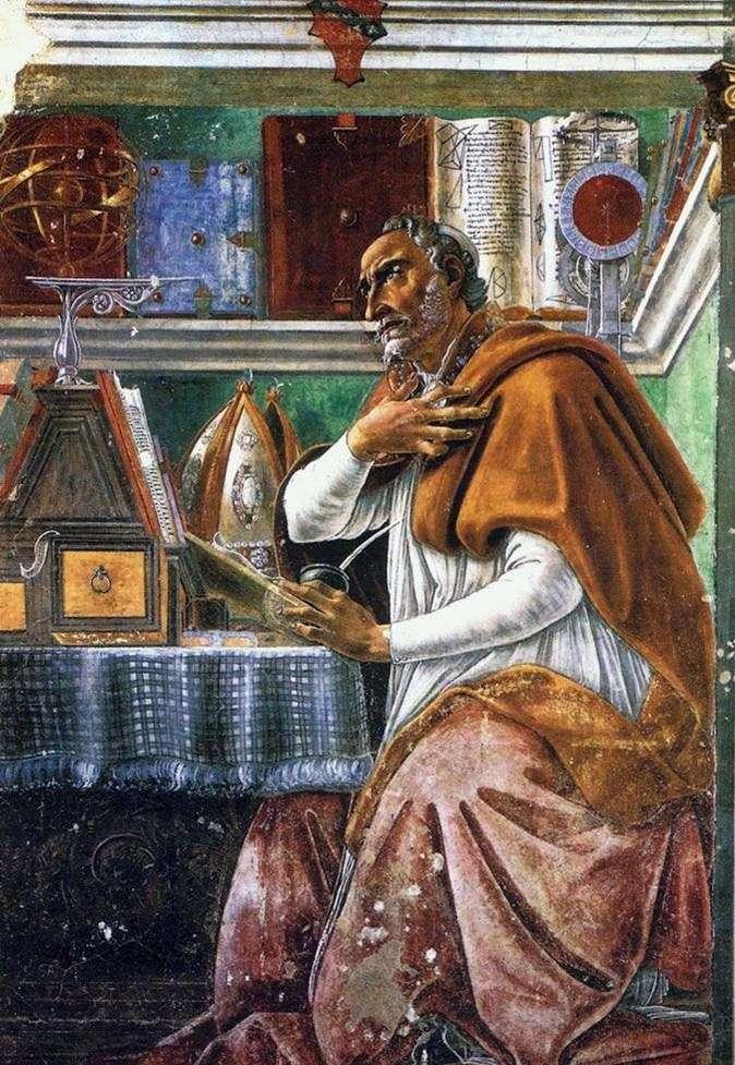 Święty Augustyn błogosławiony   Sandro Botticelli