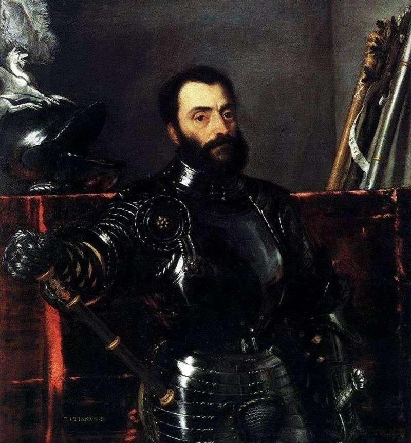 Portret Francesco Maria della Rovere   Titian Vecellio