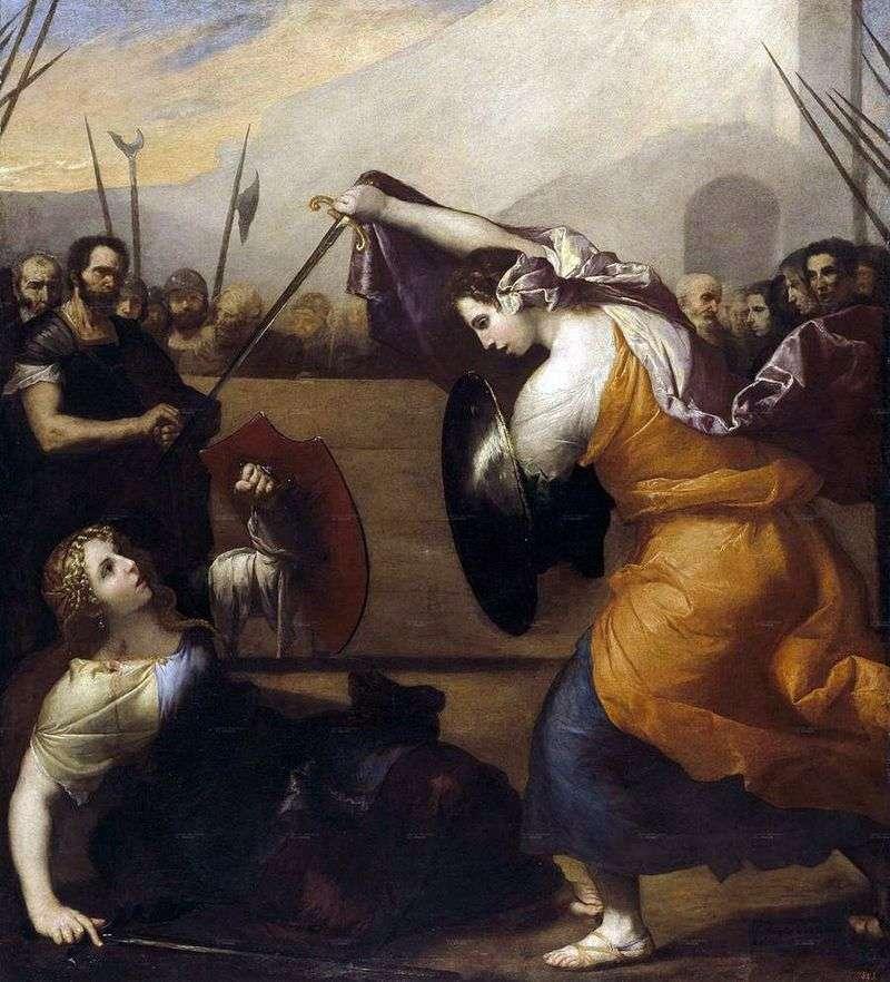 Pojedynek Isabella de Karazzi i Diambra de Pottinello   Jusepe de Ribera
