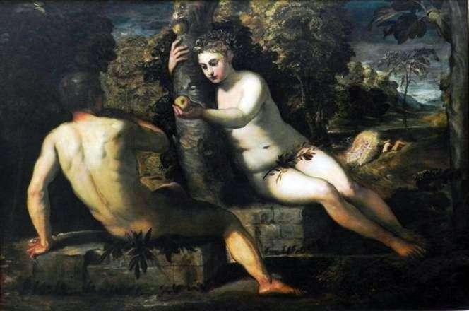 Kuszenie Adama   Jacopo Tintoretto
