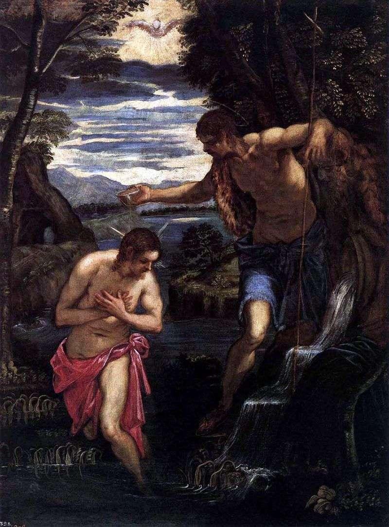Chrzest Chrystusa   Jacopo Tintoretto