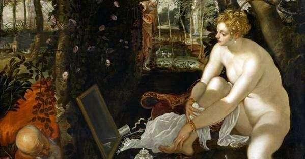 Susannas Bathing (Susanna and the Elders)   Jacopo Tintoretto