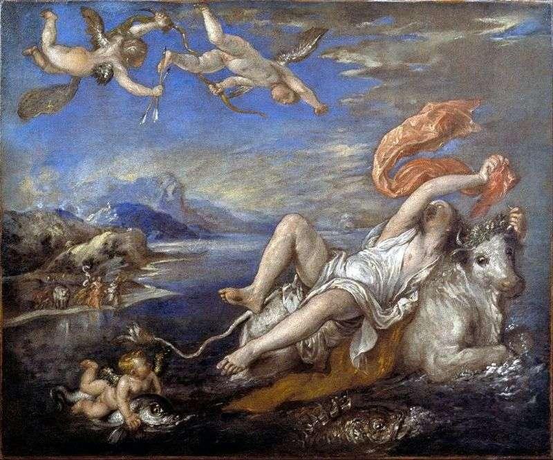 Porwanie Europy   Titian Vecellio