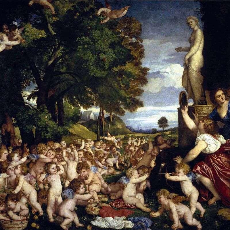 Święto Wenus (Bachanalia Dzieci)   Tycjan Vecellio
