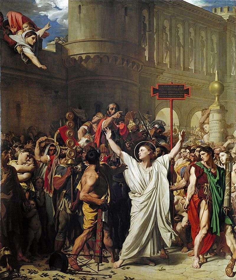 Męczeństwo św. Simferio   Jean Auguste Dominique Ingres