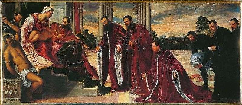 Madonna z trzema skarbnikami   Jacopo Tintoretto