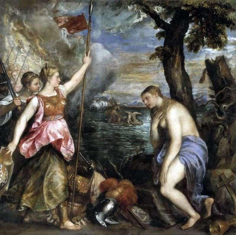 Religia wspomagana przez Hiszpanię   Titian Vecellio