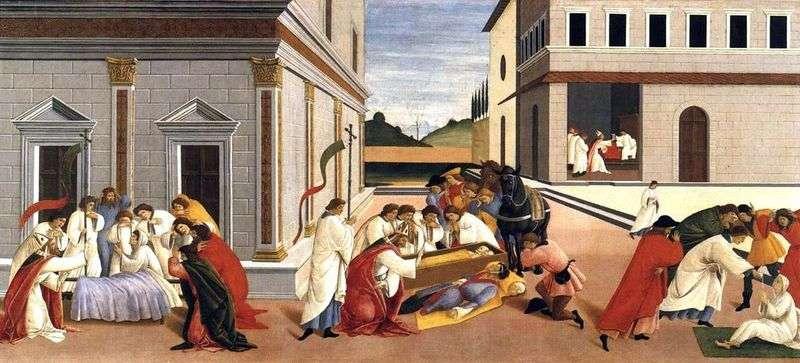 Trzy cuda św. Zinovy   Sandro Botticelli