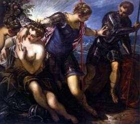 Minerva usuwa Marsa z Pokoju i Obfitości   Jacopo Tintoretto