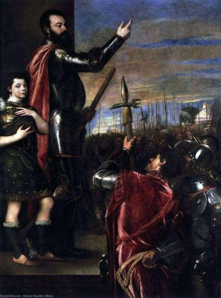 Mowa o markizie del Vasto dla wojowników   Titian Vecellio
