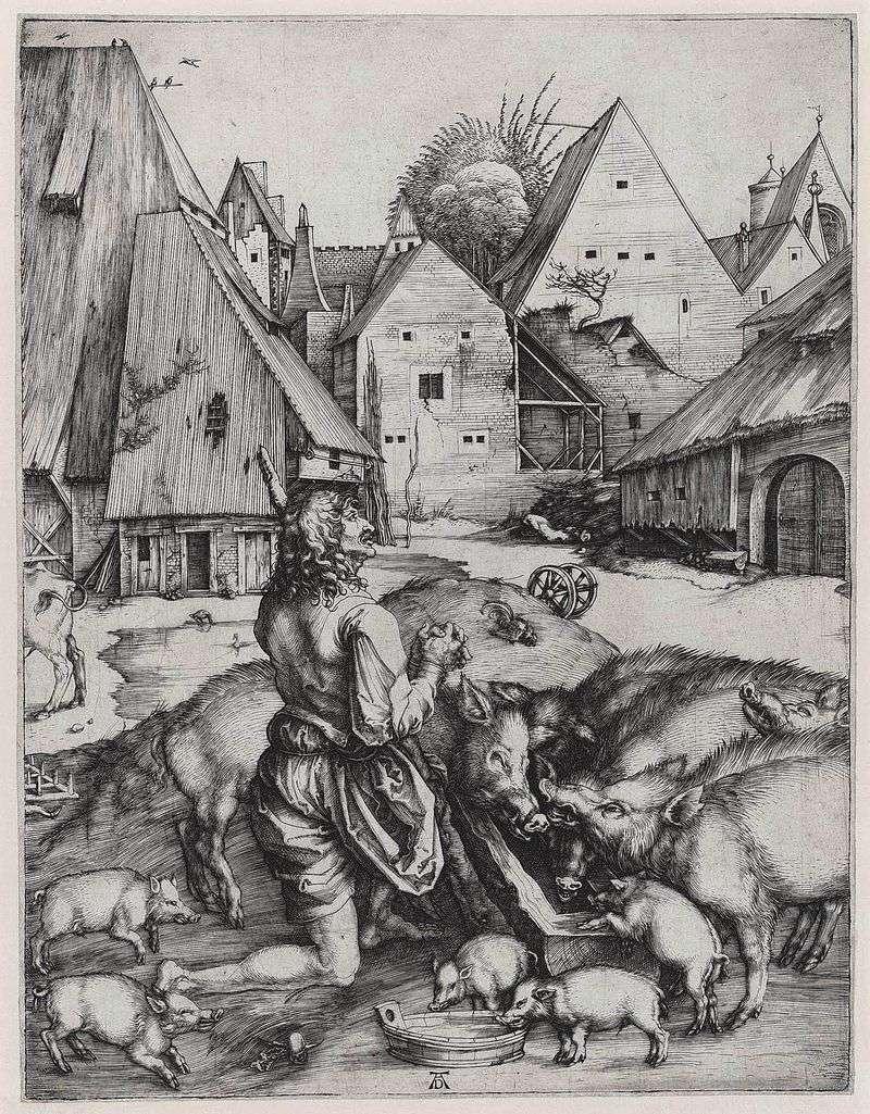 Powrót syna marnotrawnego   Albrecht Durer