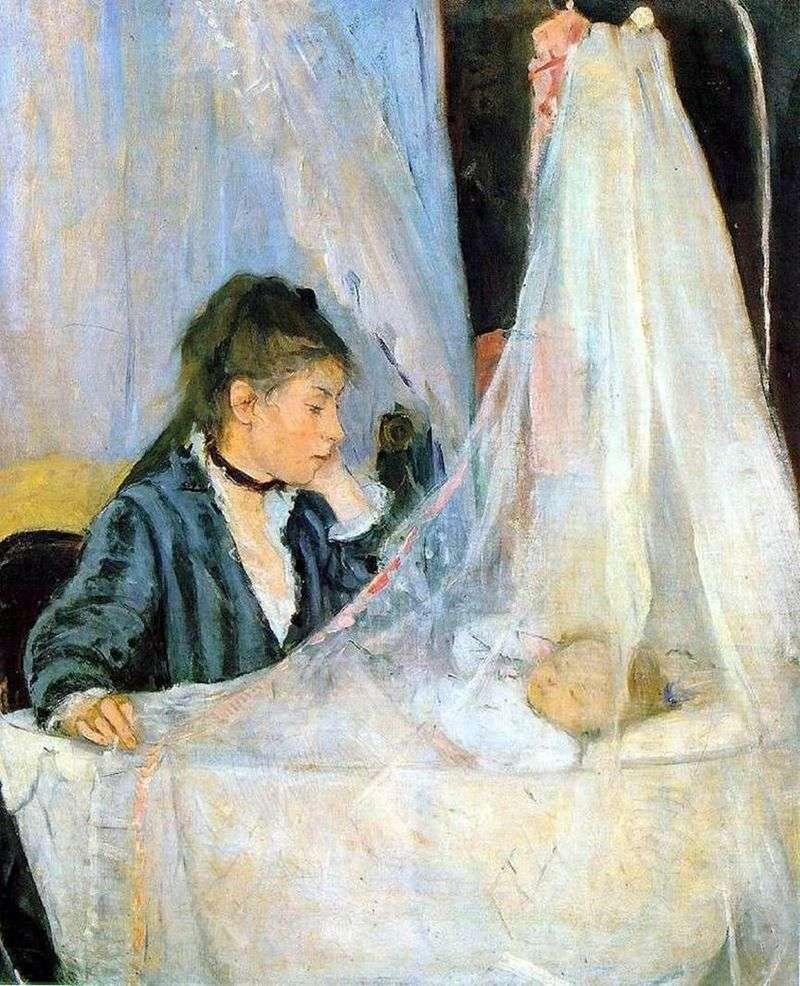 Przy kołysce   Bertha Morisot