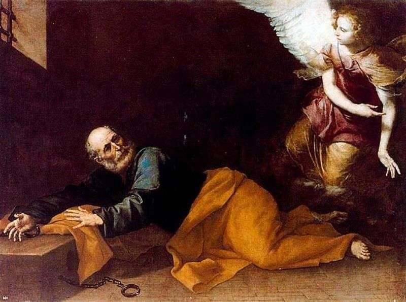 Uwolnienie Apostoła Piotra z więzienia   Jusepe de Ribera