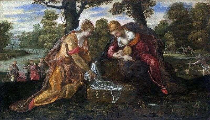 Znalezienie Mojżesza   Jacopo Tintoretto