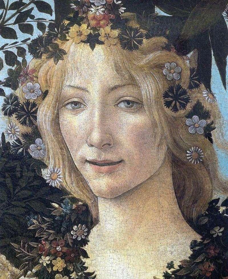 Flora (fragment)   Sandro Botticelli
