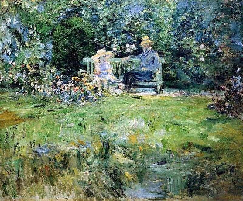 Lekcja ogrodowa   Bertha Morisot