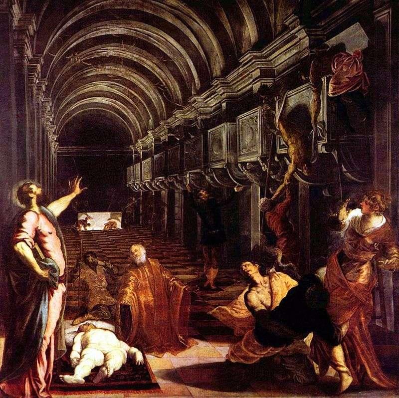 Nabycie ciała św. Marka   Jacopo Tintoretto