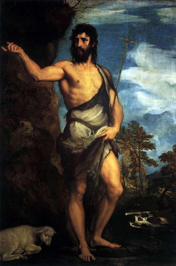 Św. Jan Chrzciciel na pustyni   Tycjan Vecellio