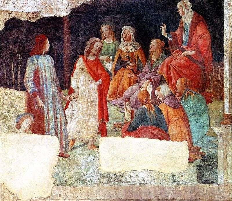 Freski w willi Macherelli. Lorenzo Tornabuoni i wolne sztuki   Sandro Botticelli