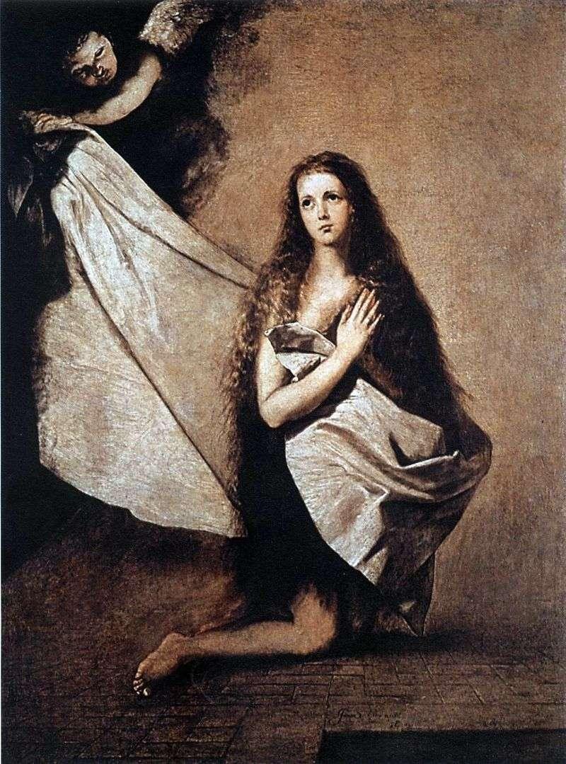Święta Inessa i anioł okrywają ją zasłoną   Jusepa Ribera