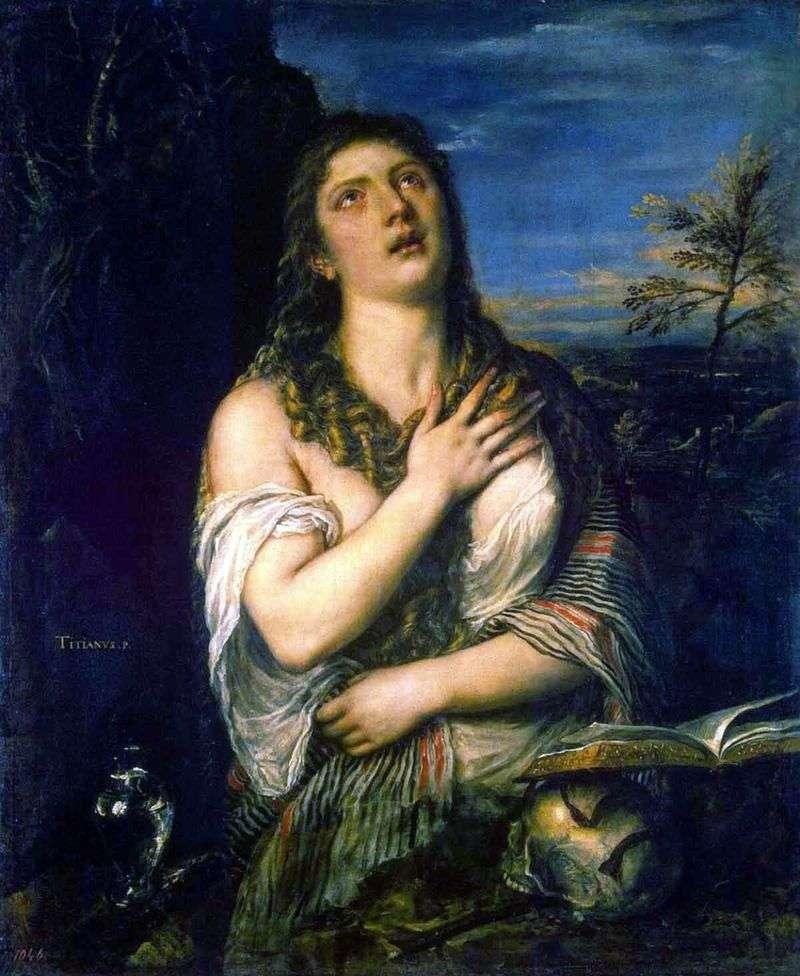 Pokutująca Maria Magdalena   Titian Vecellio