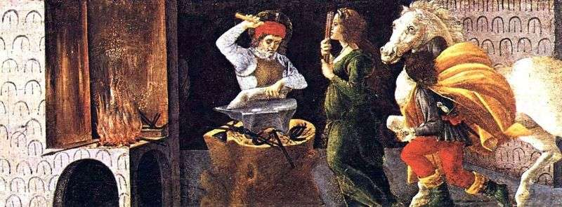 Cud Świętej Eligii   Sandro Botticelli