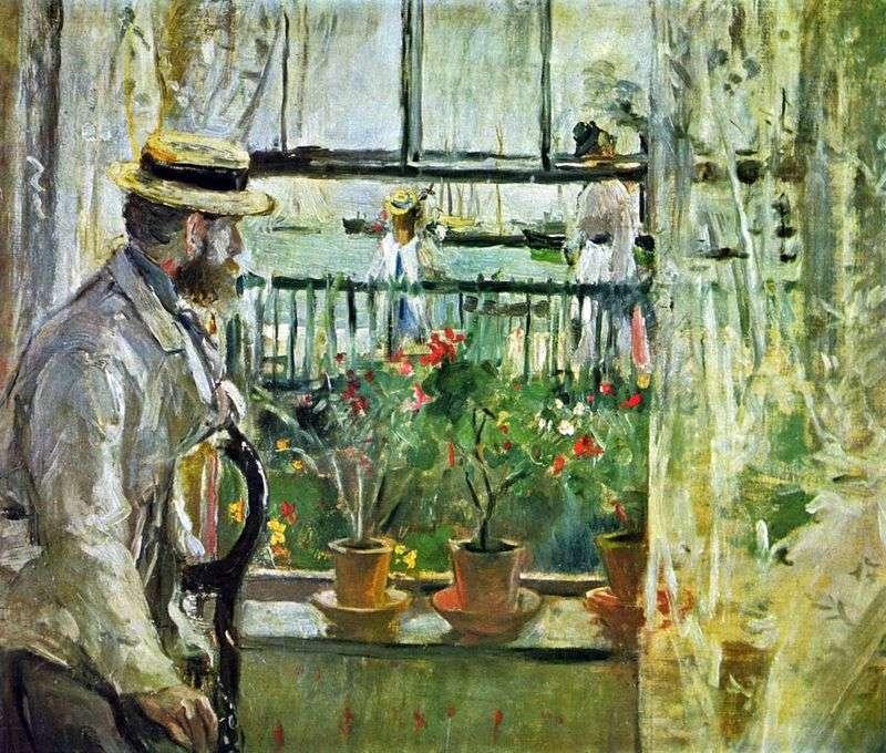 Eugene Mans na wyspie Wight   Berthe Morisot