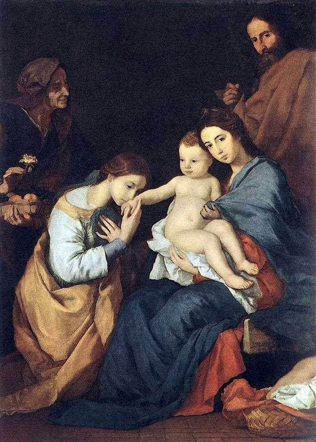Świętej Rodziny z St. Catherine   Jusepe de Ribera