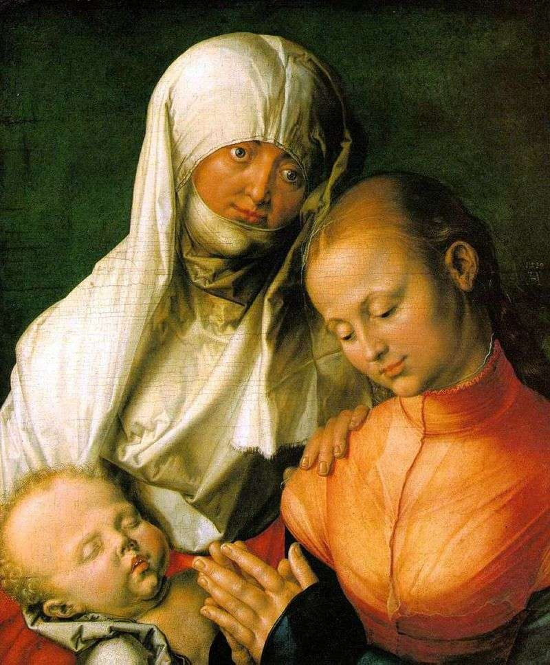 Maryja z Dzieciątkiem i Św. Anną   Albrecht Dürer