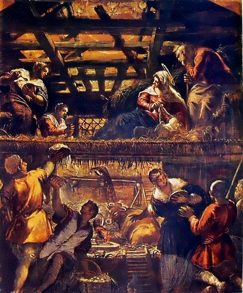 Adoracja Pasterzy   Jacopo Tintoretto