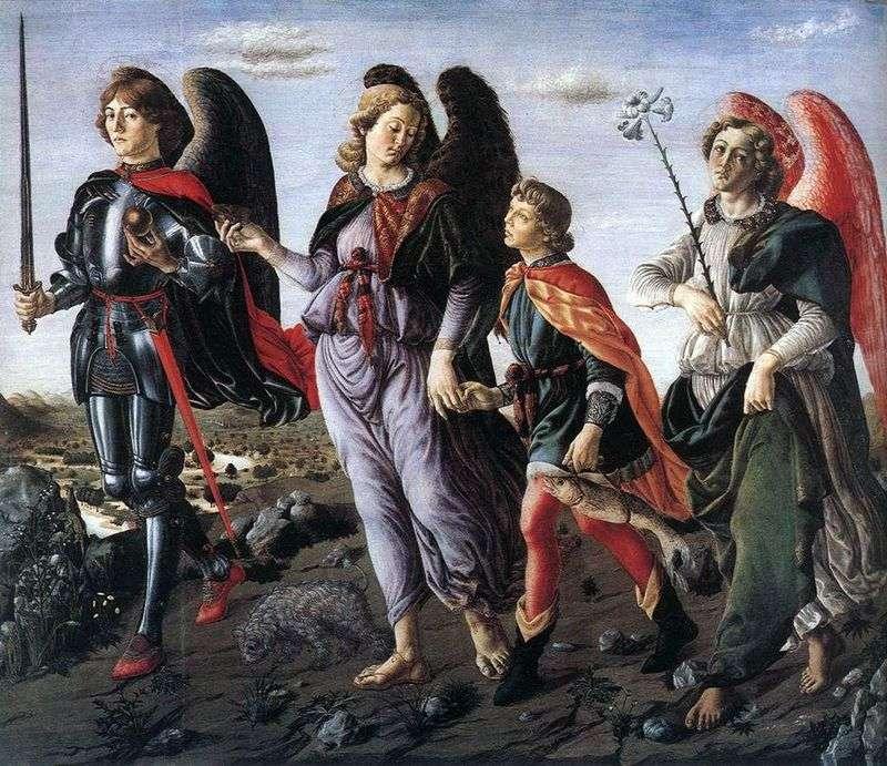 Trzech Archaniołów z Tobiaszem   Francesco Bottichini