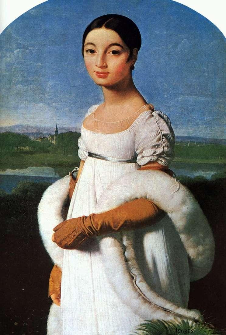 Portret Mademoiselle Rivière   Jean Auguste Dominique Ingres