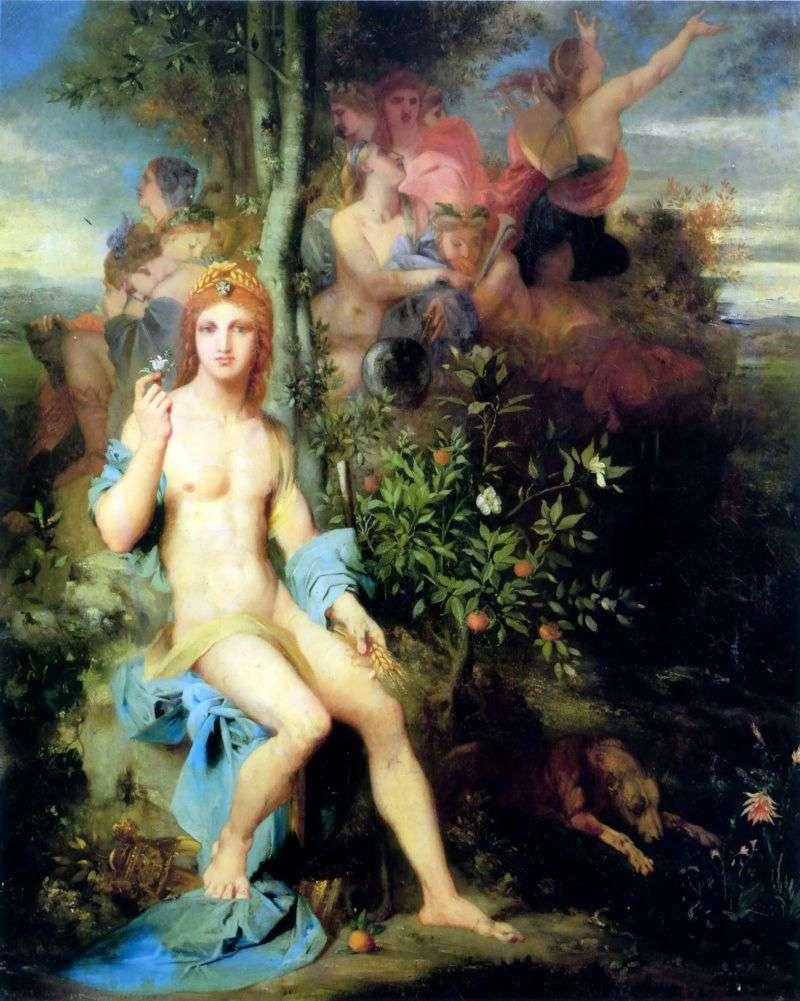 Apollo i Dziewięciu Muz   Gustave Moreau