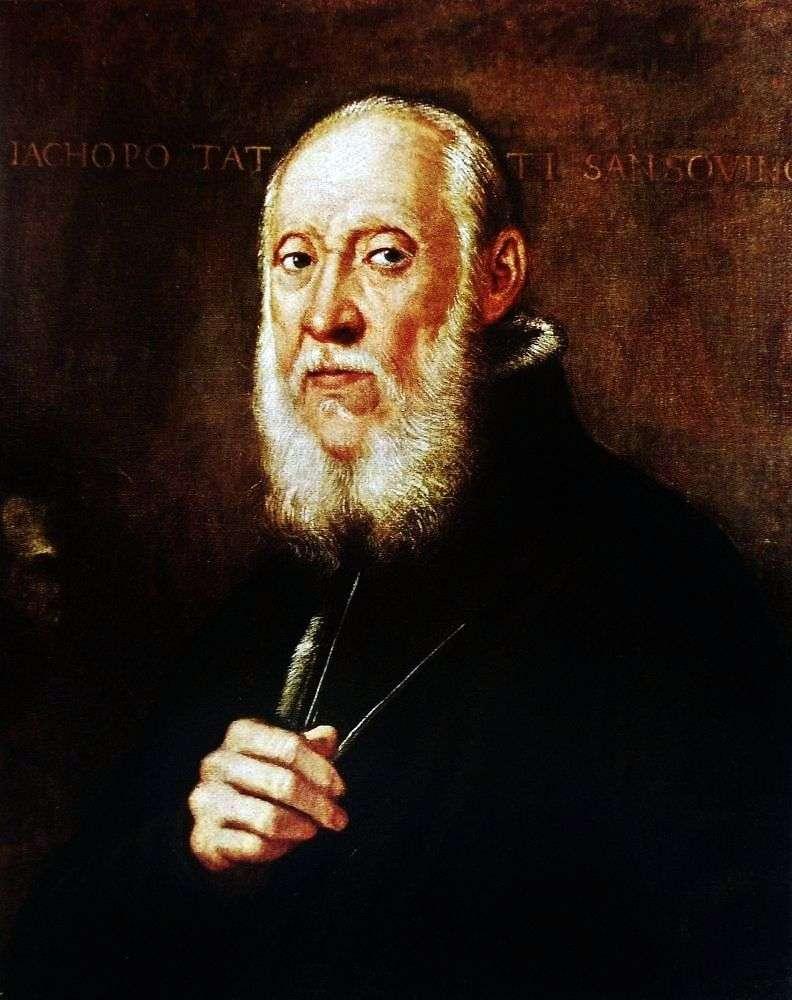 Portret Jacopo Sansovino   Jacopo Tintoretto