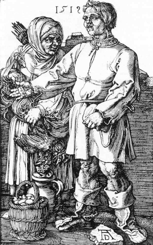 Chłop i jego żona na rynku   Albrecht Durer