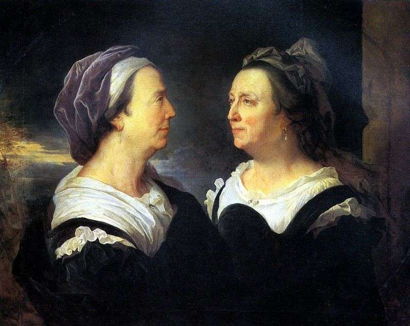 Madame Rigo, matka artysty, w dwóch portretach   Hiacynt Rigaud