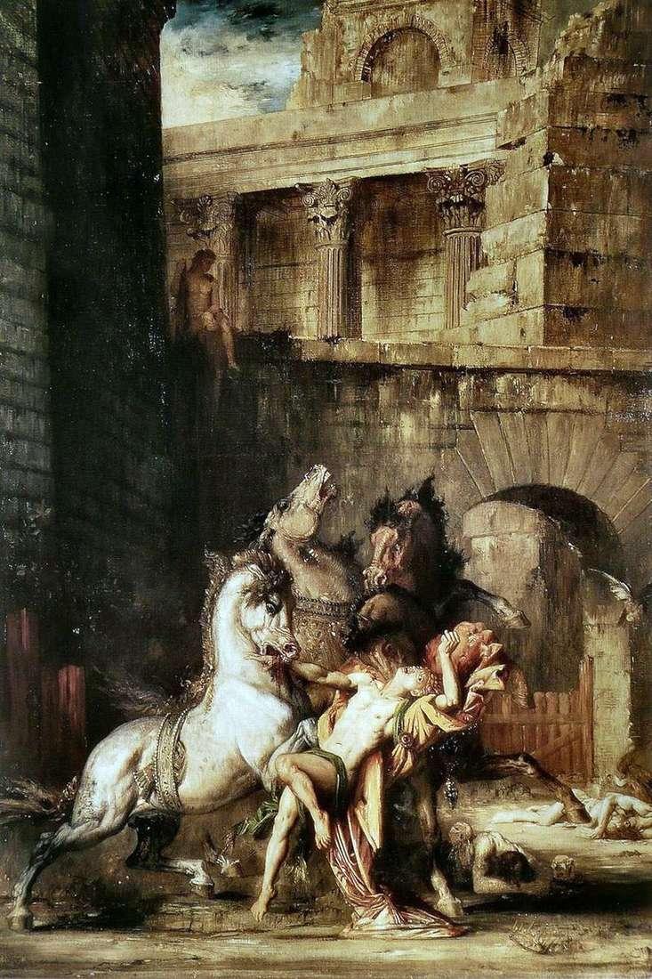 Diomedes pożera swoje konie   Gustave Moreau