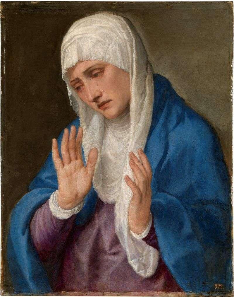 Zasmucona matka   Titian Vecellio