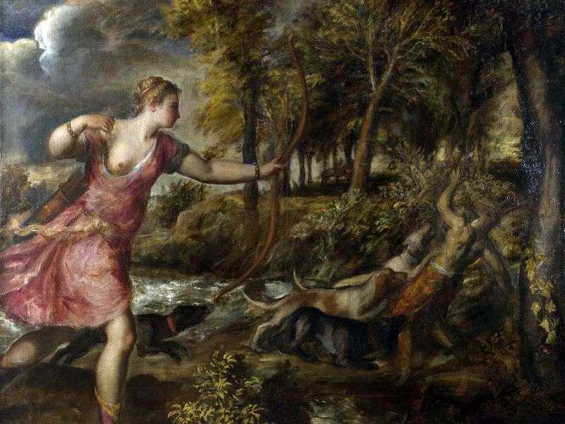 Śmierć Akteona   Titian Vecellio