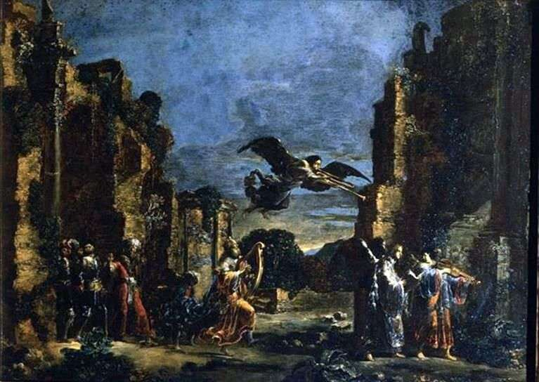 Tańczący król Dawid   Leonart Bramer