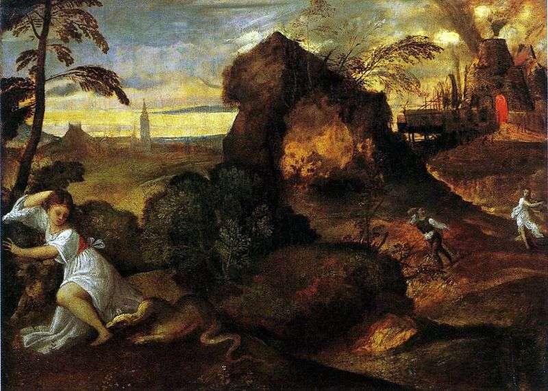 Śmierć Eurydyka. D   Titian Vecellio