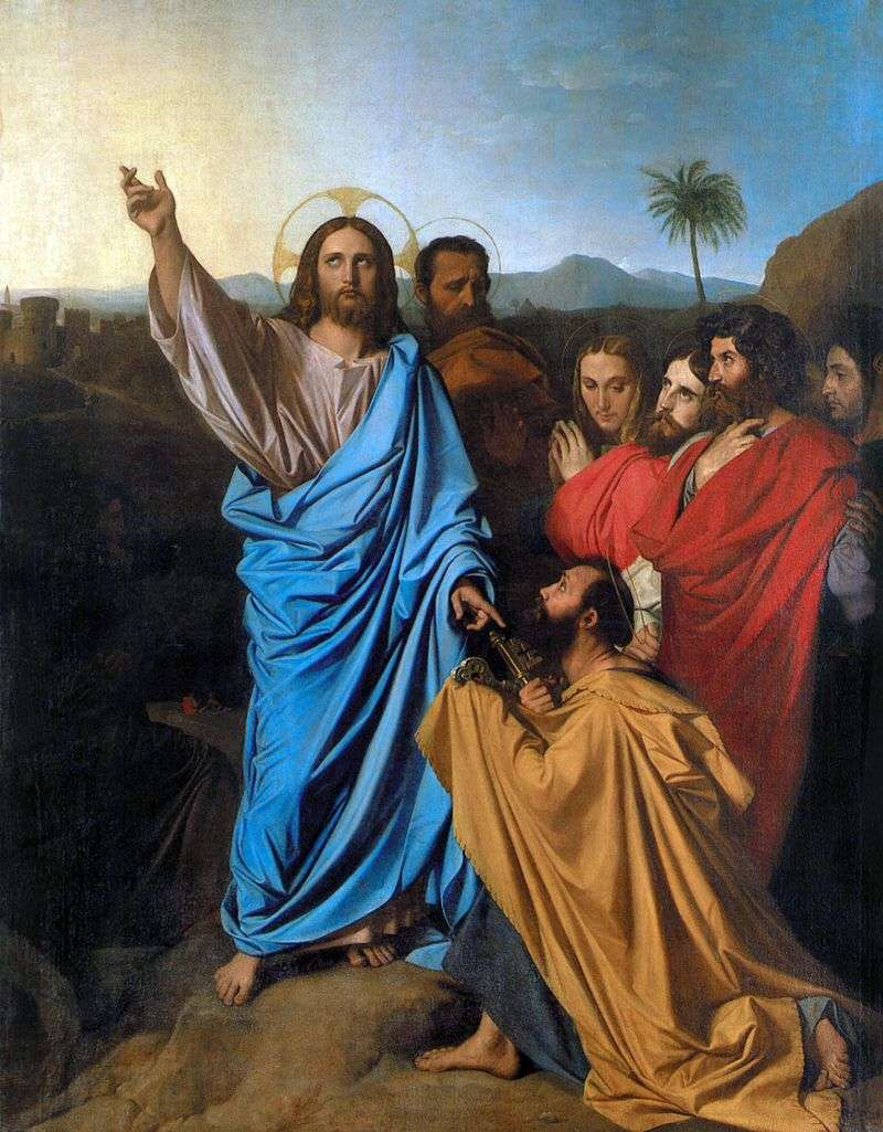 Chrystus transmitujący sv. Piotra klucze do nieba   Jean Auguste Dominique Ingres